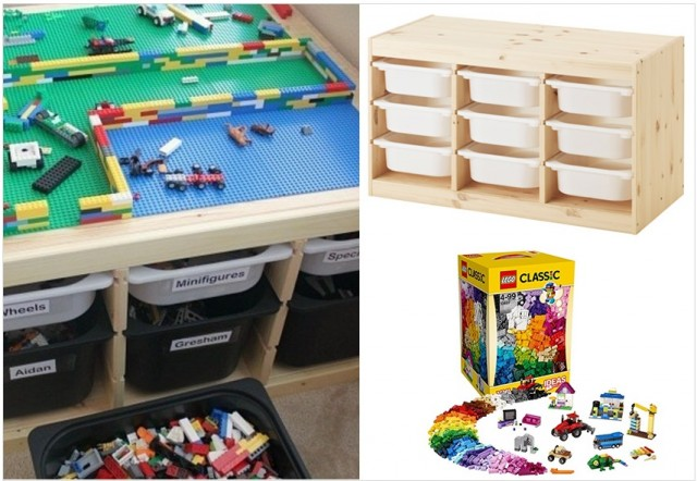 Range tes lego joli place for Meuble lego