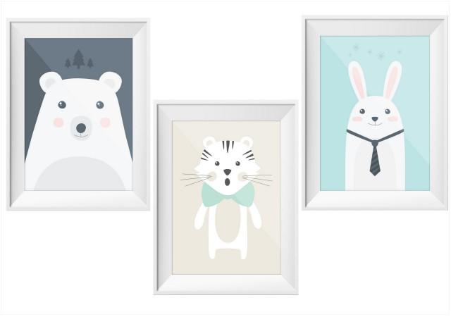 Les animaux s 39 affichent chez les petits joli place - Affiche chambre garcon ...