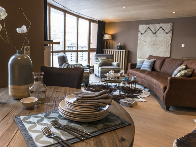 chalet ethnique chic tignes joli place. Black Bedroom Furniture Sets. Home Design Ideas