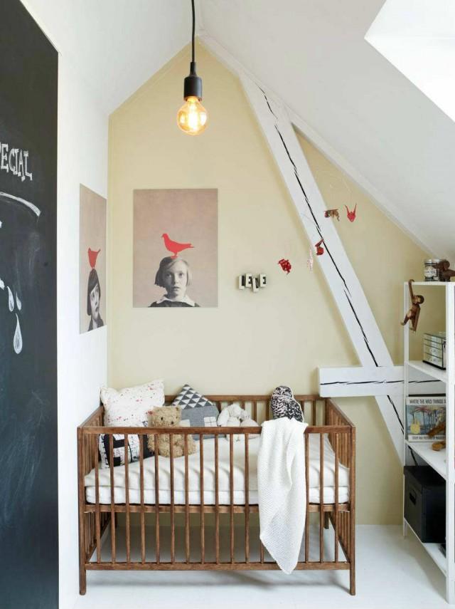 D corer une chambre d 39 enfant mansard e joli place - Idee peinture chambre enfant ...