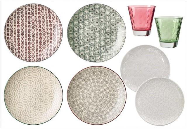 Vaisselle table dépareillée