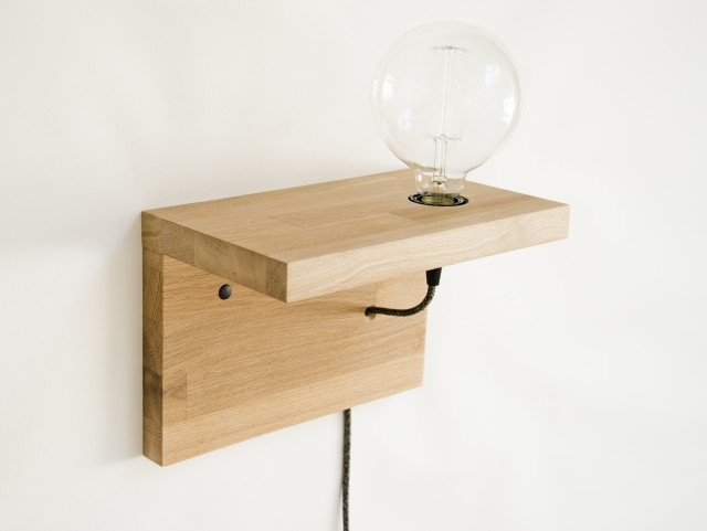 Lampe étagère de chevet