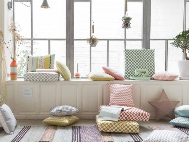 Collection de tissus à motifs pastel