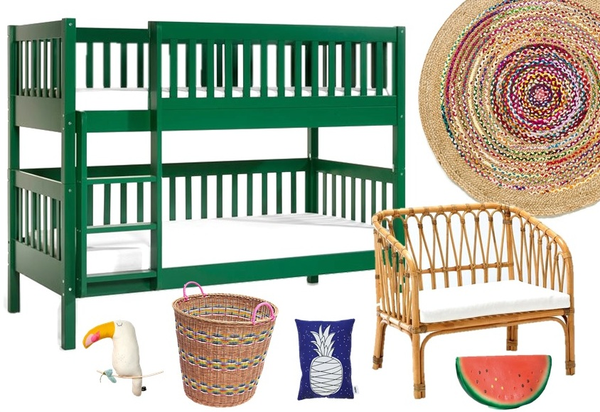 tropicool kids chambre enfant tropical joli place. Black Bedroom Furniture Sets. Home Design Ideas