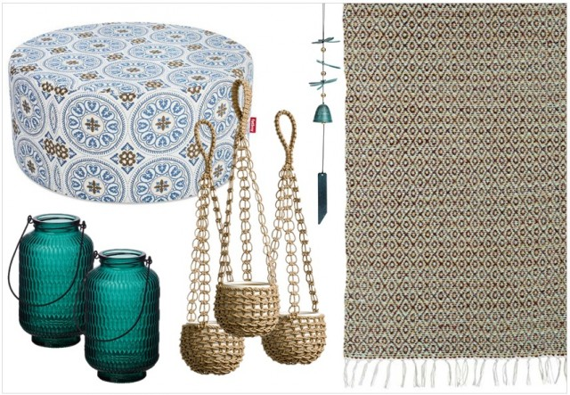 lovely tapis exterieur terrasse ikea 2 decoration terrasse tropicale boho boheme bleu beige. Black Bedroom Furniture Sets. Home Design Ideas
