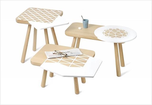 tables basses en forme joli place. Black Bedroom Furniture Sets. Home Design Ideas