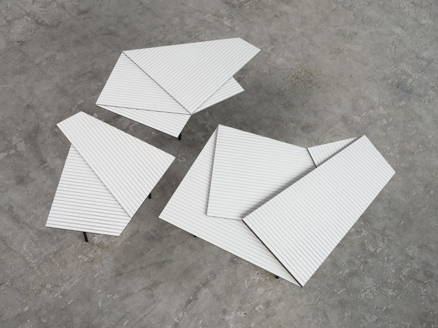 Table basse forme géométrique
