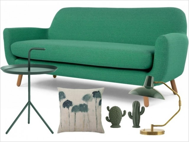 agr able la redoute housse de canape 7 deco salon vert canape table lampe cactus. Black Bedroom Furniture Sets. Home Design Ideas