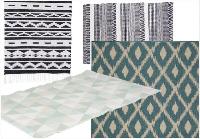 O trouver un tapis d 39 ext rieur joli place - Tapis geometrique noir et blanc ...