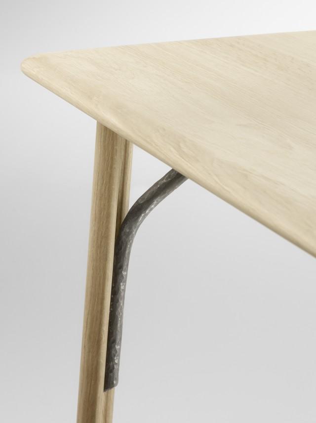 Table et banc en bois massif Alki