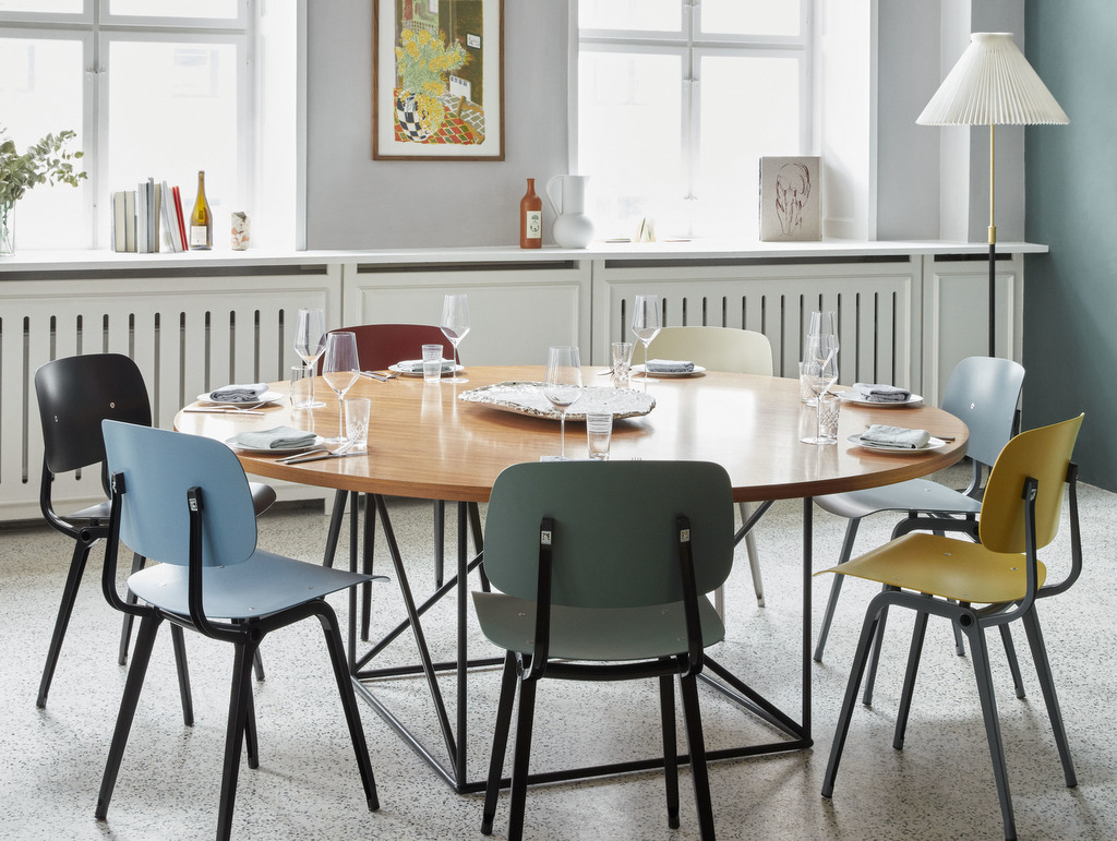 chaises couleur salle à manger