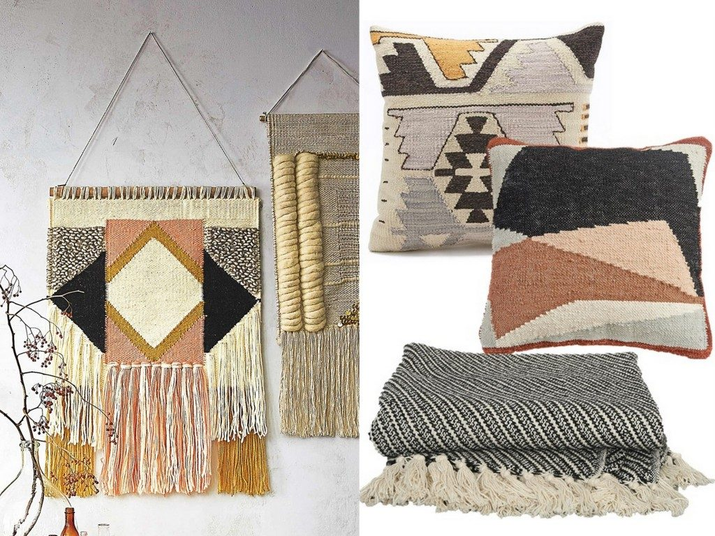 la d co esprit tissage joli place. Black Bedroom Furniture Sets. Home Design Ideas