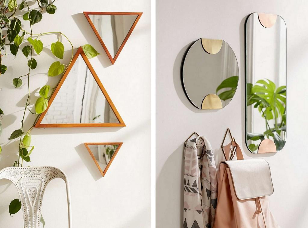 Jouer l 39 accumulation de miroirs pour d corer un mur - Deco avec miroir mural ...