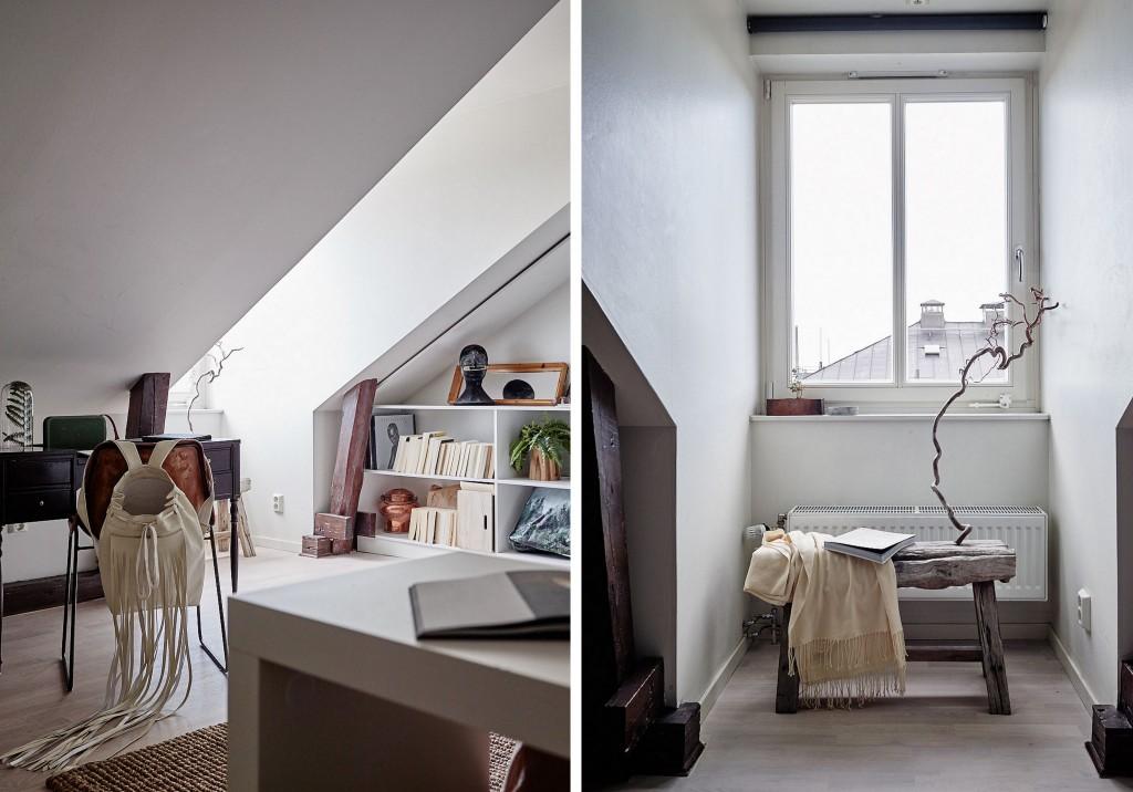 un loft boh me sous les toits joli place. Black Bedroom Furniture Sets. Home Design Ideas