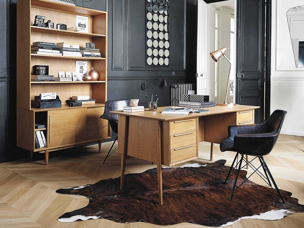 un bureau en mode vintage joli place. Black Bedroom Furniture Sets. Home Design Ideas