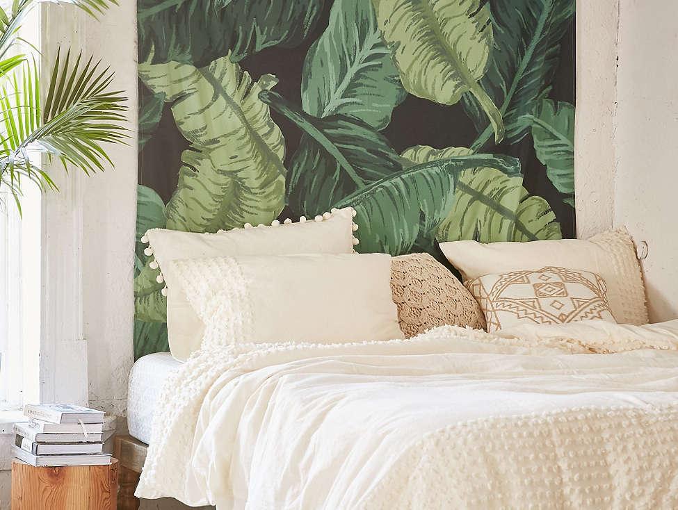 Chambre déco tropicale
