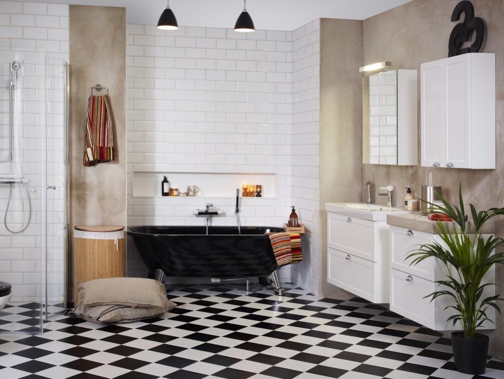sol pour salle de bain osez le sol damier joli place