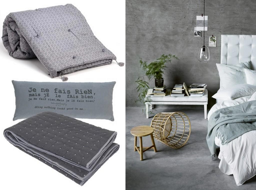 Chambre grise deco chambre grise et beige deco chambre for Idee deco cuisine avec lit gonflable