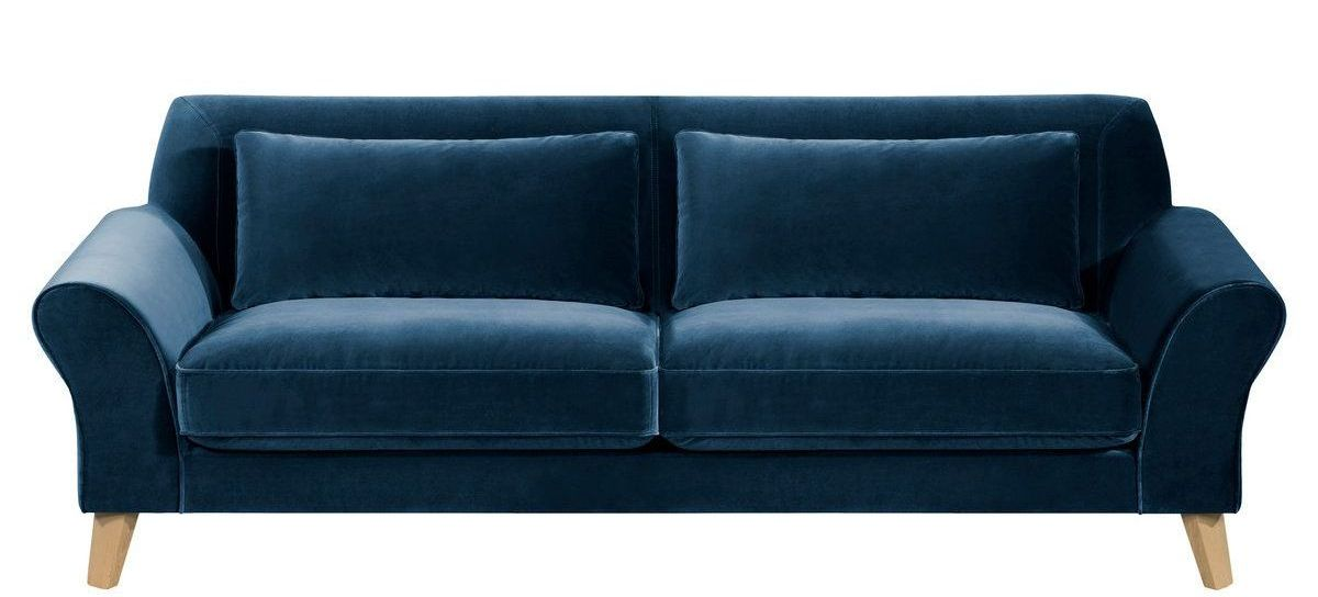 Canape velours pas cher maison design for Canape chesterfield pas cher