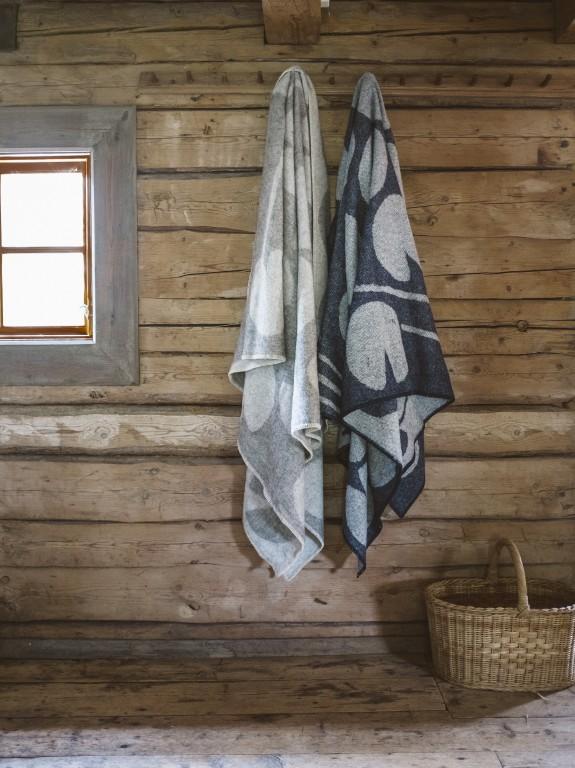 Couverture en laine à motif