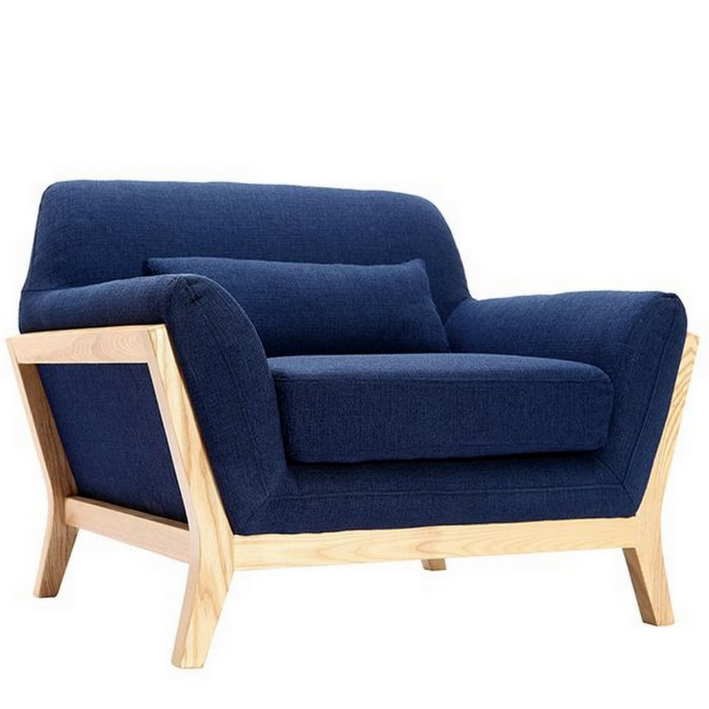 fauteuil bleu marine