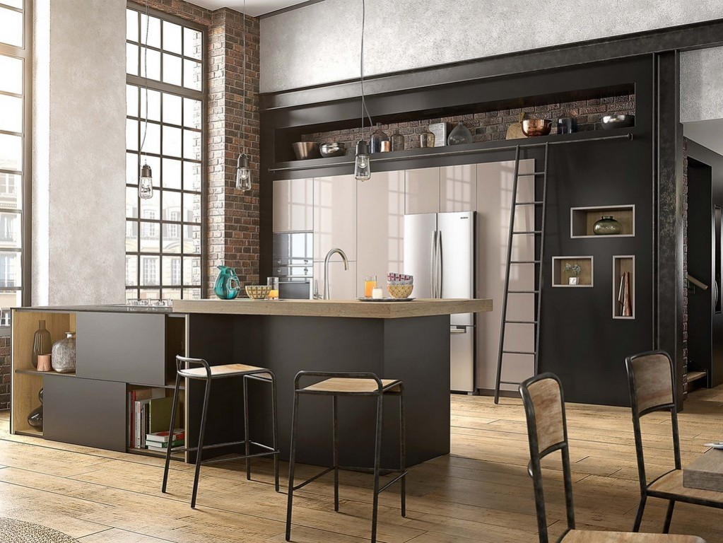 cuisine noir c 39 est noir la tendance qui monte joli place. Black Bedroom Furniture Sets. Home Design Ideas