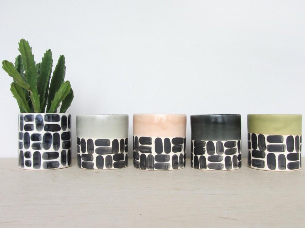 Mini jardinière en céramique