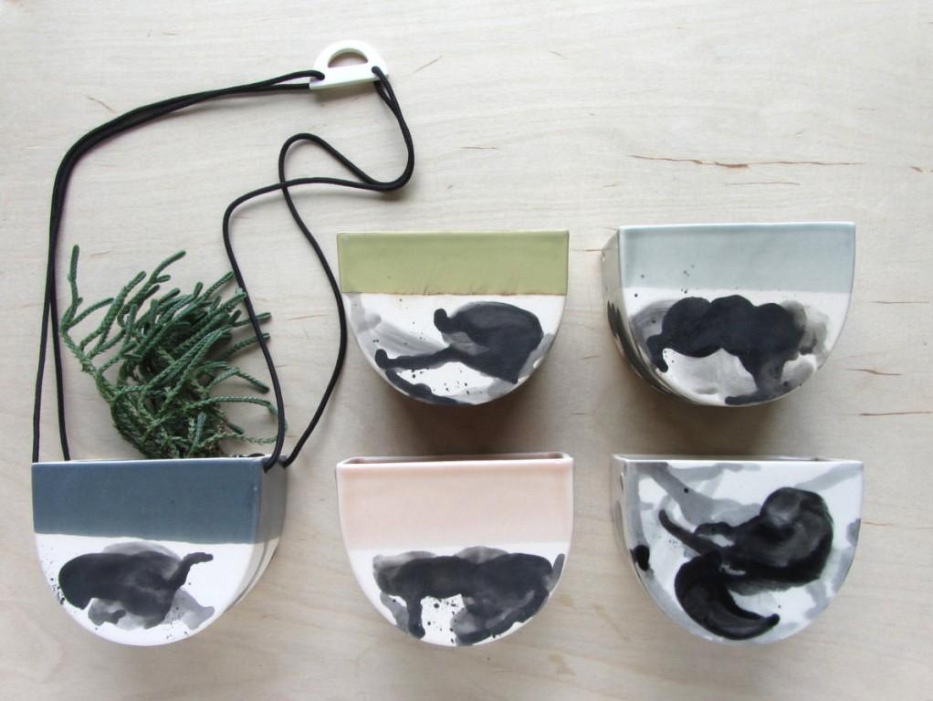 Pot à suspendre en céramique