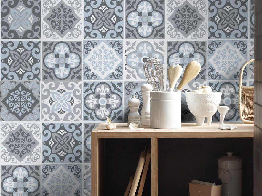 Inspirants les carreaux de ciment joli place - Piastrelle decorative per pareti ...