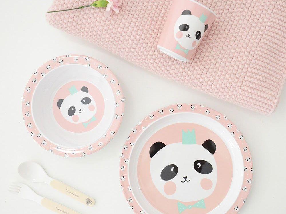 Vaisselle pour enfant motif panda