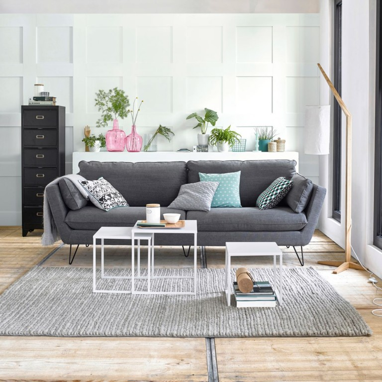 Salon scandinave pas cher id es de d coration et de mobilier pour la conception de la maison for Salon gris scandinave