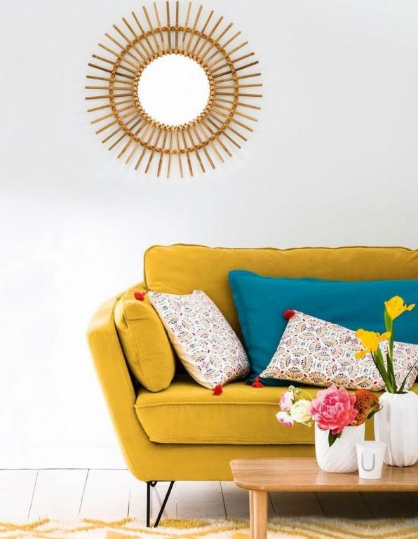 Canapé vintage jaune