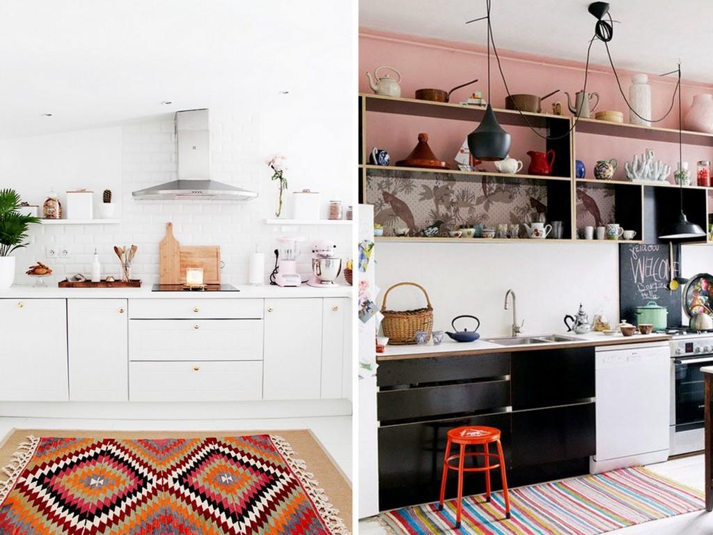 Un tapis dans la cuisine joli place for Tapis de cuisine 2 metres