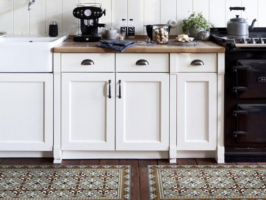 tapis dans la cuisine