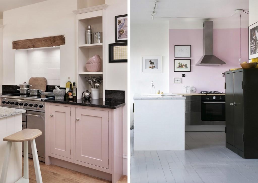 12 cuisines qui voient la vie en rose joli place Deco cuisine mur