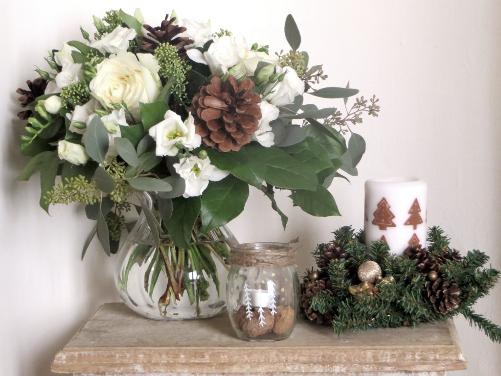 idée déco bouquet table de Noël