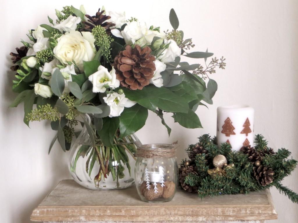 idée déco bouquet table de Noël