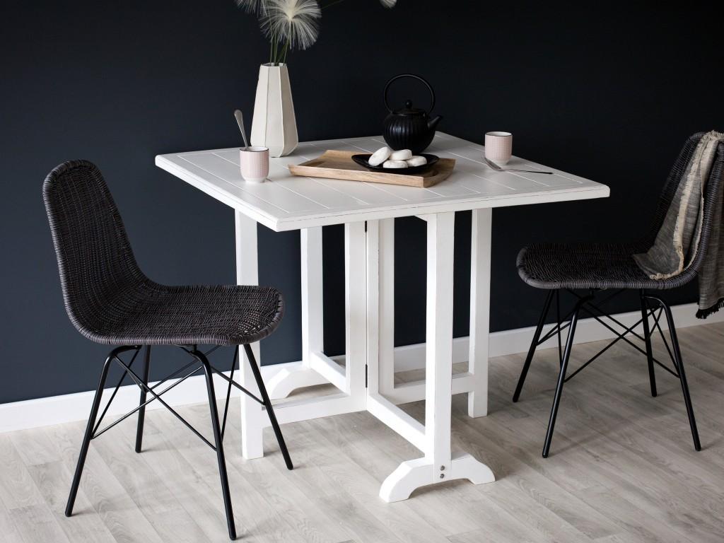 table carrée pliante blanche