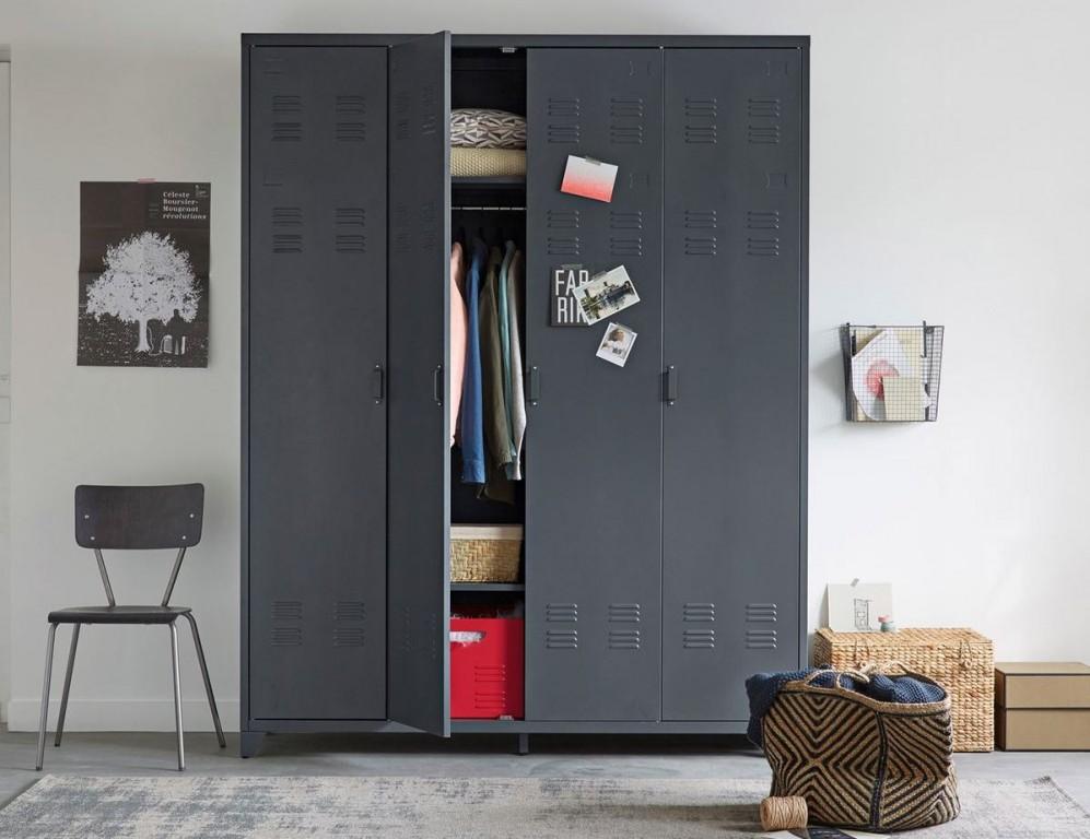 o trouver une armoire en m tal joli place. Black Bedroom Furniture Sets. Home Design Ideas