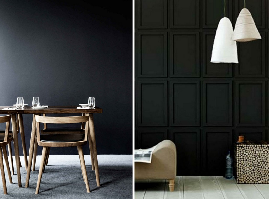 deco chambre mur noir. Black Bedroom Furniture Sets. Home Design Ideas