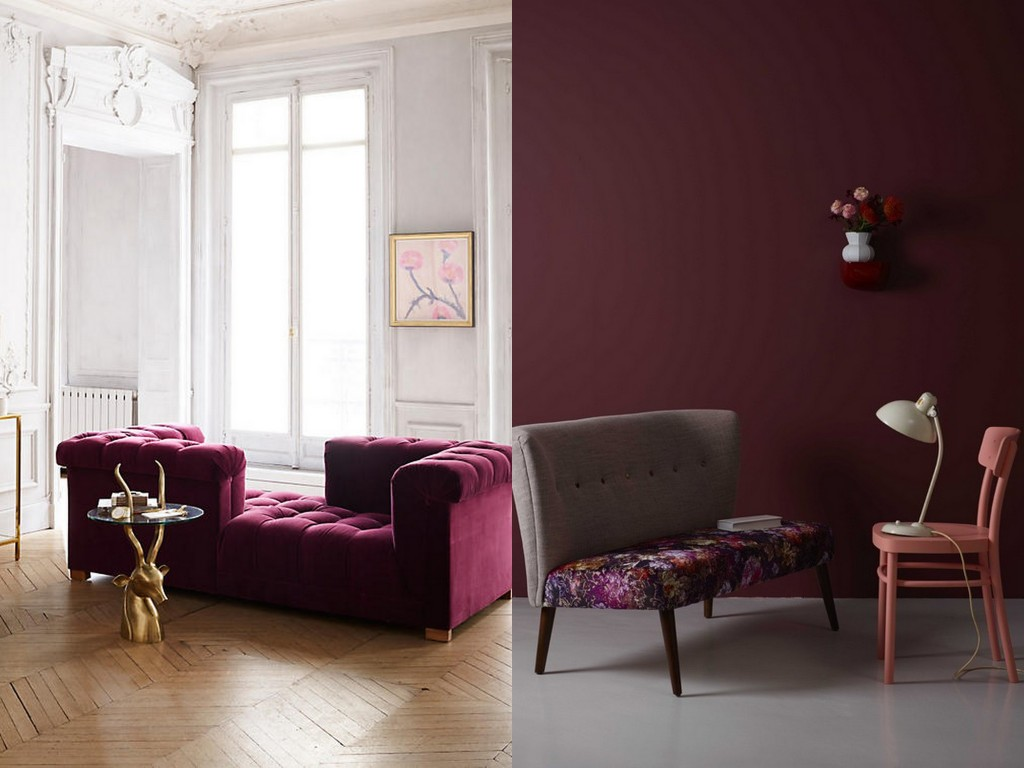 le bon mix d co bordeaux rose et gris joli place. Black Bedroom Furniture Sets. Home Design Ideas