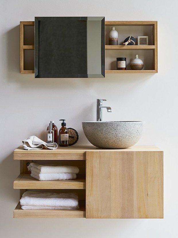 meuble vasque en bois design