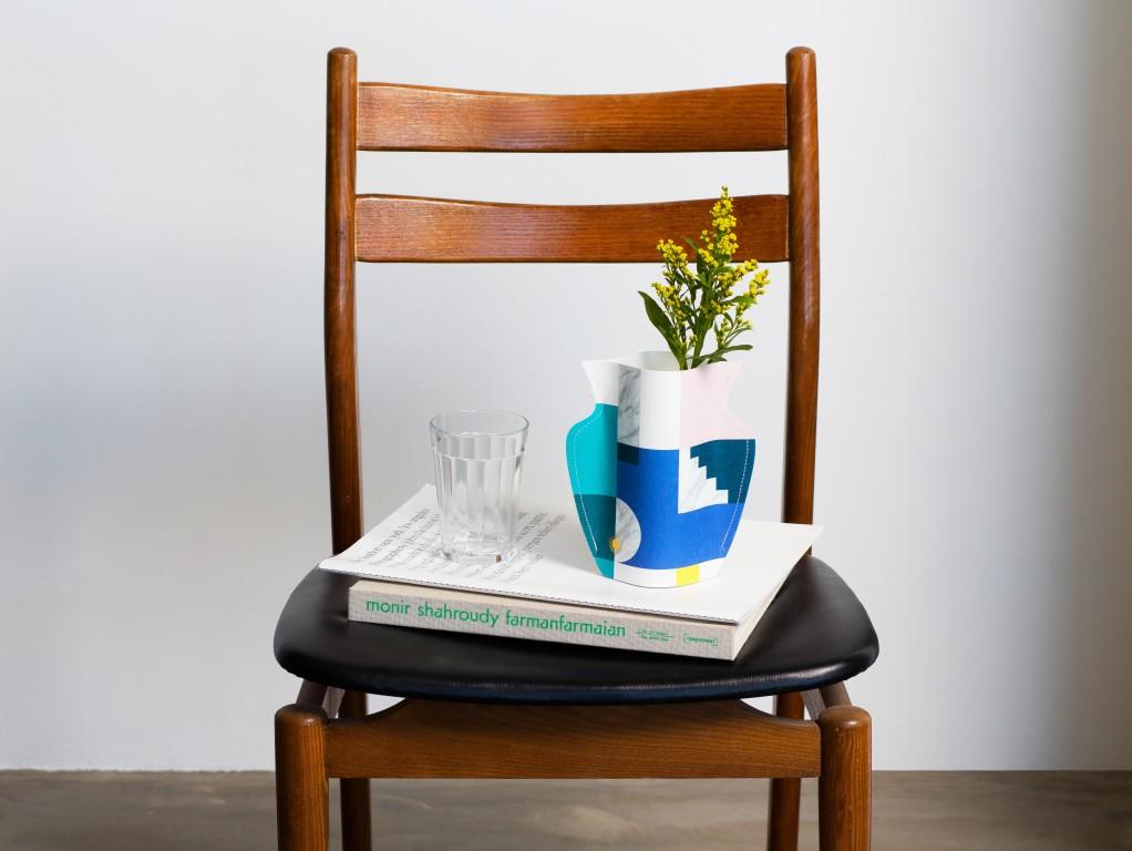 vase en papier