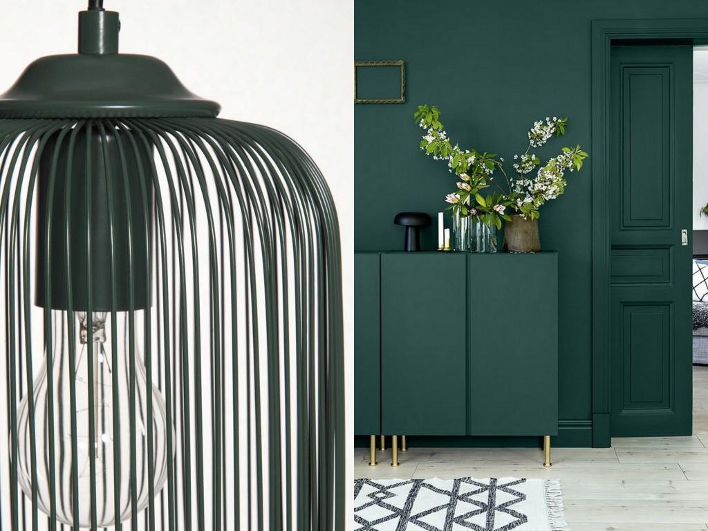 Inspirations d co en vert fonc joli place - Peinture dans un salon ...