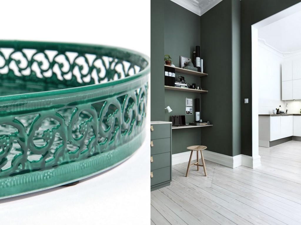 Cuisine Marbre Vert : Inspirations déco en vert foncé joli place