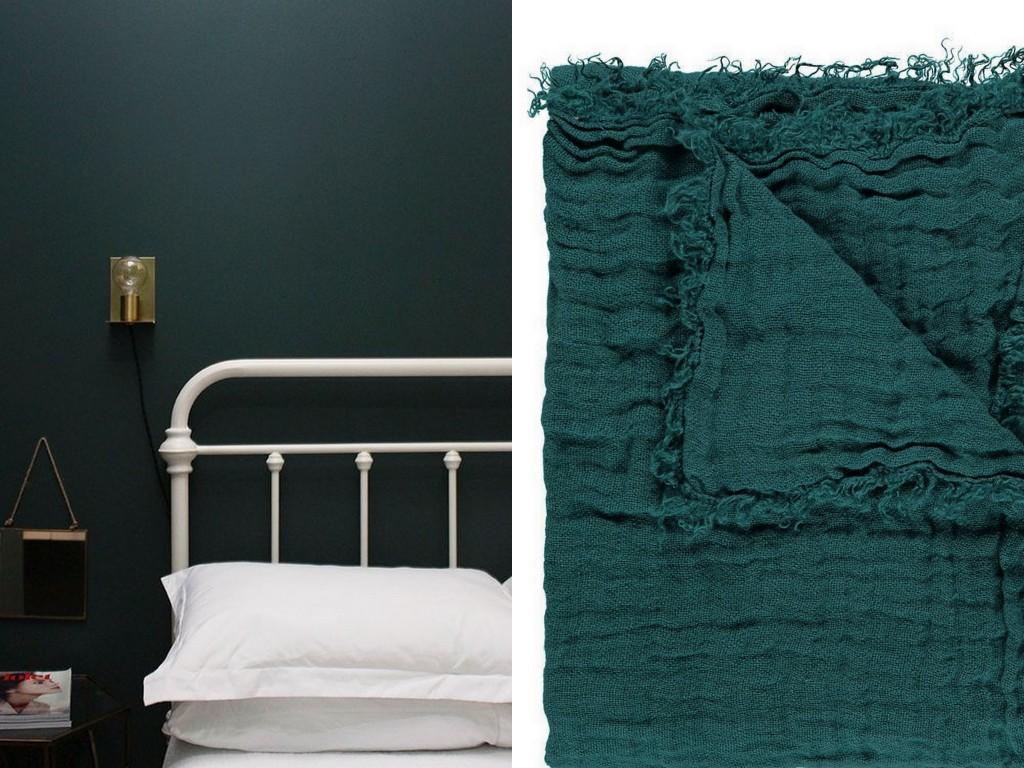 Peinture Chambre Idee Deco : Inspirations déco en vert foncé joli place