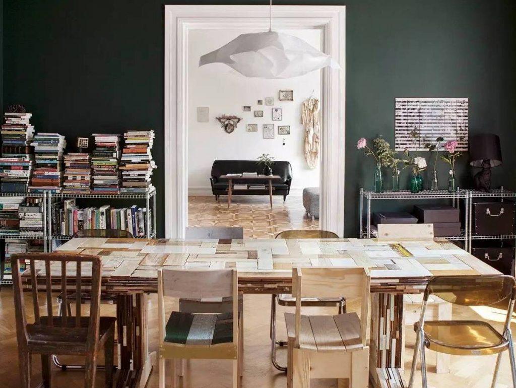 Vert joli place for Salle a manger jo