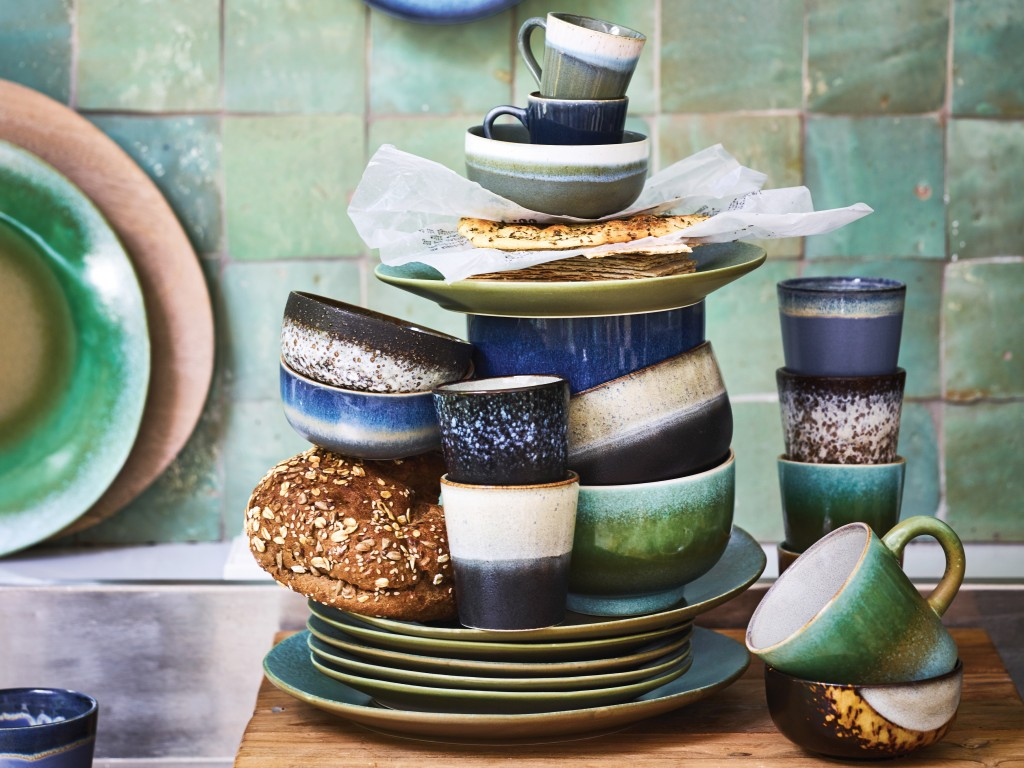 cuisine déco en bleu et vert