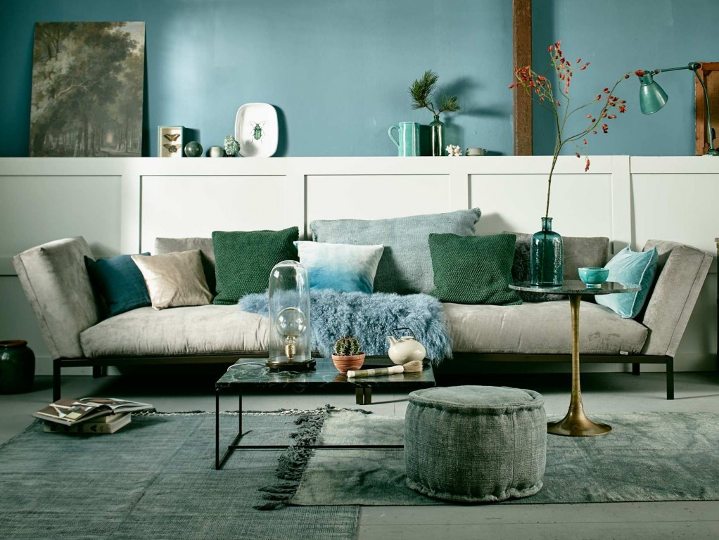 decoration bleu
