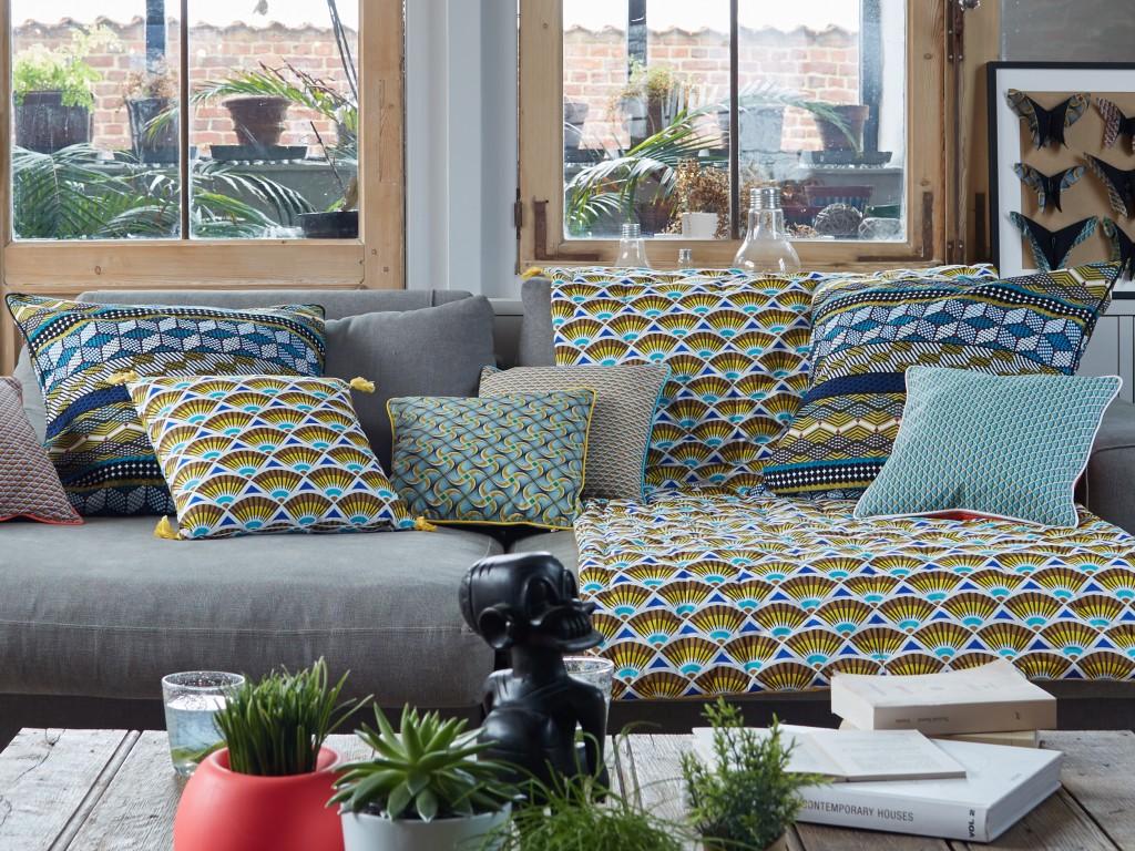 Catalogues Deco Placo Salon : Tissu wax et artisanat africain la déco ethnique a cote